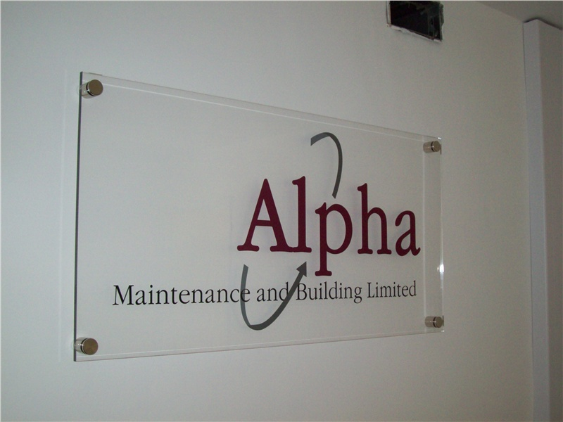 Acrylic Signage Transparent Background