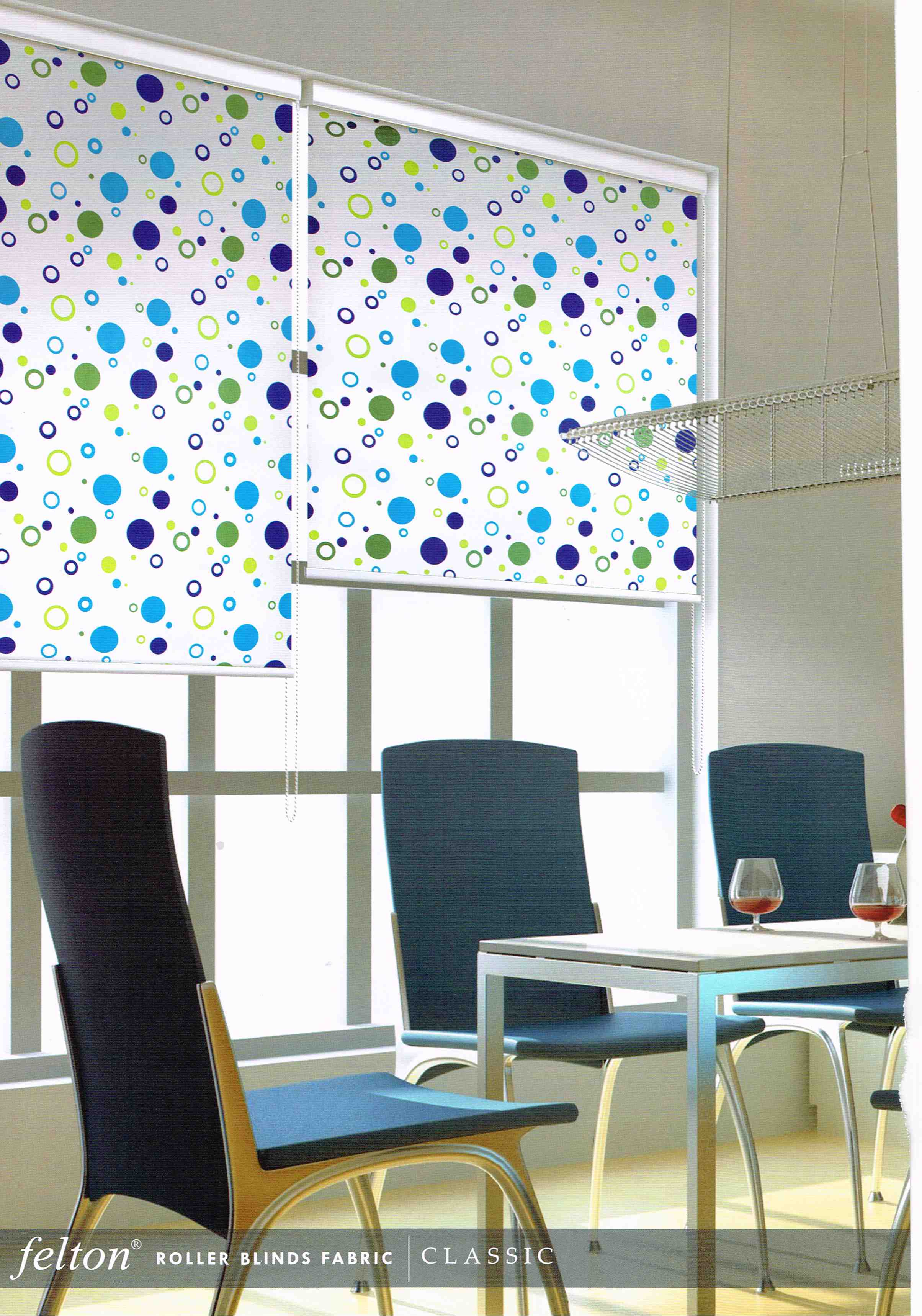 roller blinds - colourful fabric